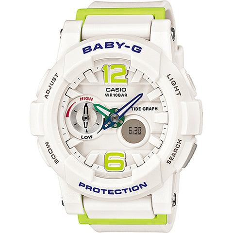 Casio BABY-G G-LIDE White Resin Strap Watch BGA-180-7B2