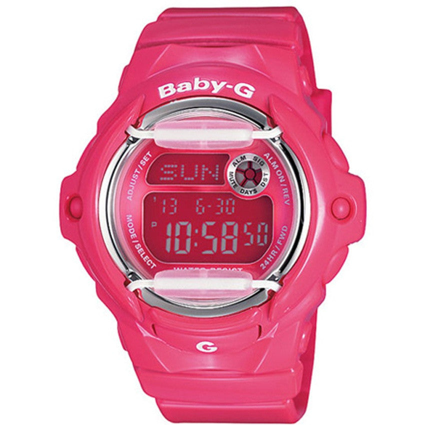 Casio Baby-G Ladies Pink Resin Band Watch BG-169R-4B
