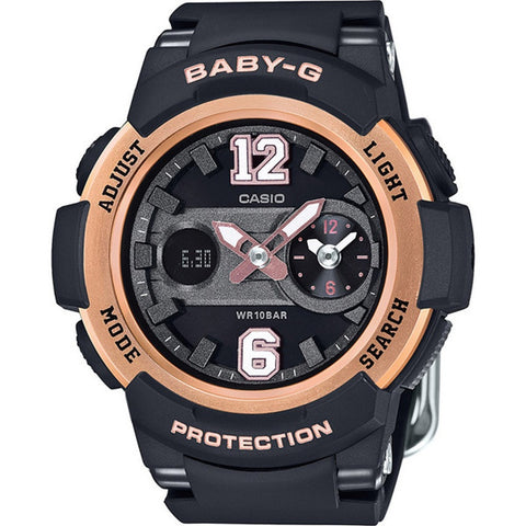Casio Baby-G New Sporty BGA-210 Series Black Resin Strap Watch BGA210-1B
