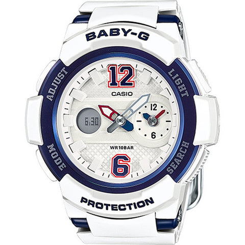 Casio Baby-G New Sporty BGA-210 Series White Resin Strap Watch BGA210-7B2