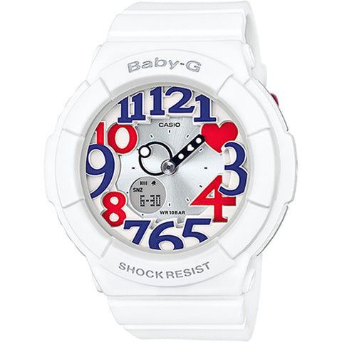 Casio Baby G Tricolor Neon Illuminator Ladies Watch BGA-130TR-7B