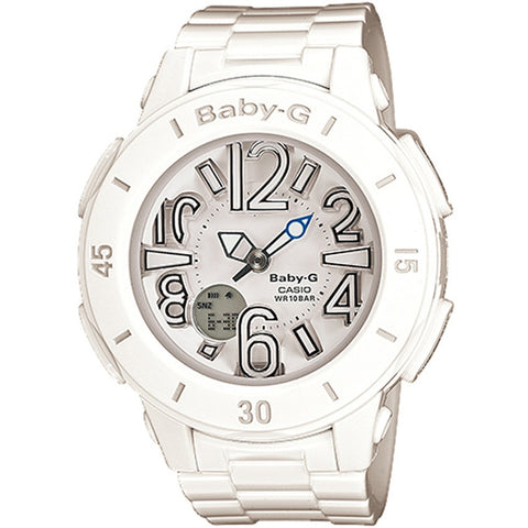 Casio Baby-G White Quartz Neon-Illuminator Watch BGA-170-7B1