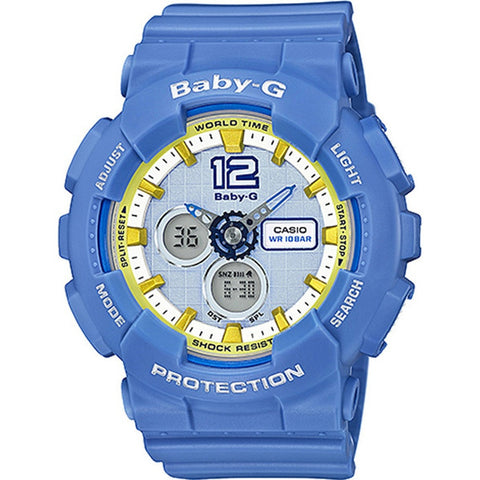 Casio Baby-G Women's Blue Resin Band Watch BA120-2B
