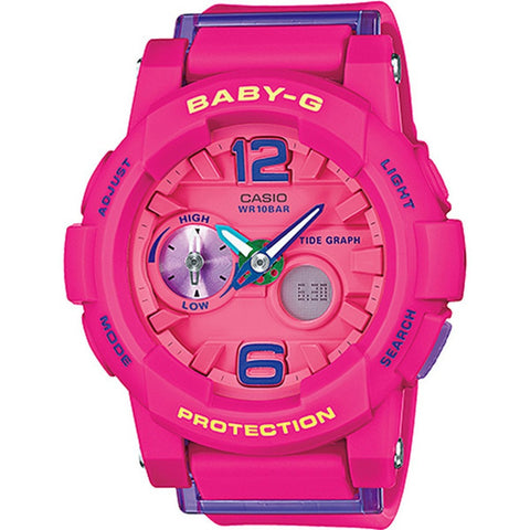 Casio Baby-G Women's Pink Resin Strap Watch BGA180-4B3