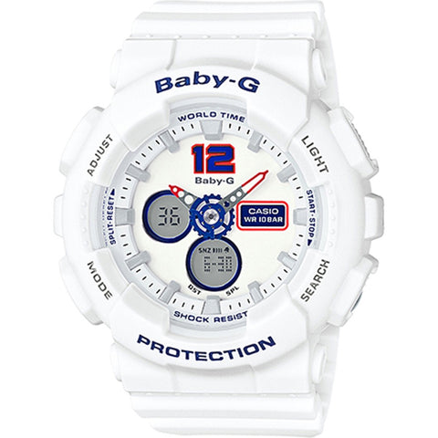 Casio Baby-G Women's White Resin Strap Watch BA-120TR-7B