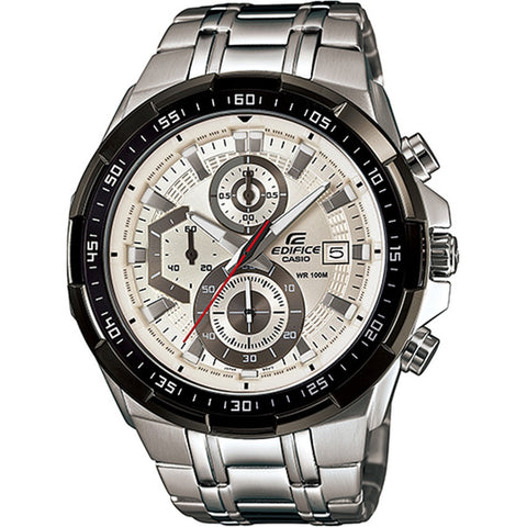 Casio Edifice Chorongraph White Dial Sports Mens Watch EFR-539D-7A