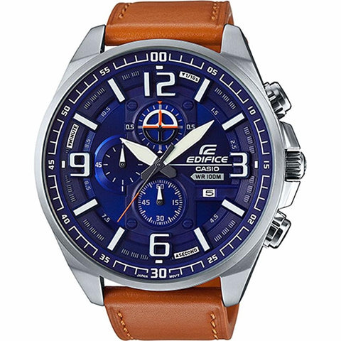 Casio Edifice Chronograph DarkBlue Dial for Men EFR-555L-2A