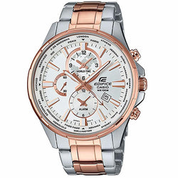 Casio Edifice EFR-304SG-7A EFR-304SG Rose gold ion plated case Mens Watch