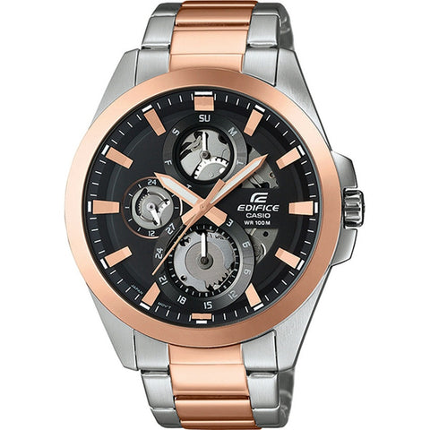 Casio Edifice Rose Gold/Black Stainless Steel Mens Watch ESK-300SG-1A
