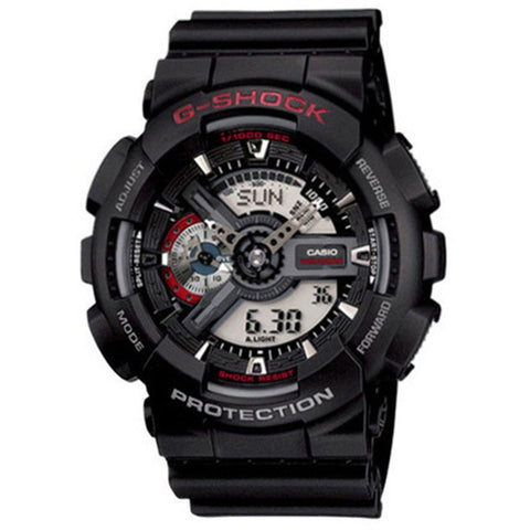 Casio G-Shock Black Resin Strap Watch GA-110-1A