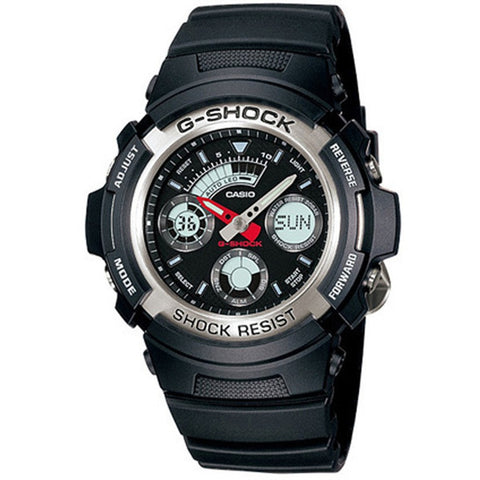 Casio G-Shock Black Rubber Strap AW-590-1A