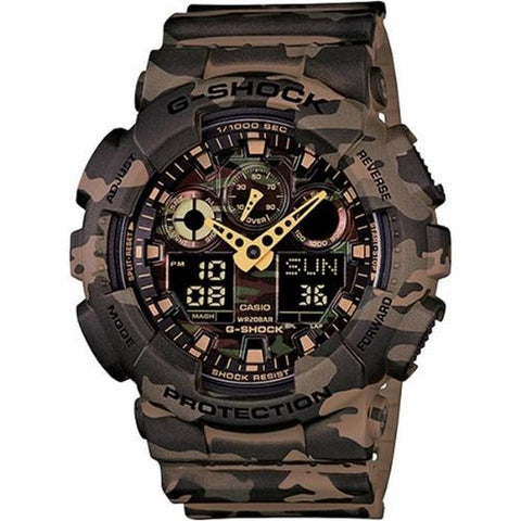 Casio G-Shock Camouflage Watch GA-100CM-5A