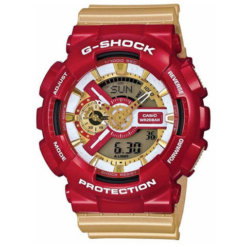 Casio G-Shock Crazy Colors Men's Gold Resin Strap Watch GA-110CS-4