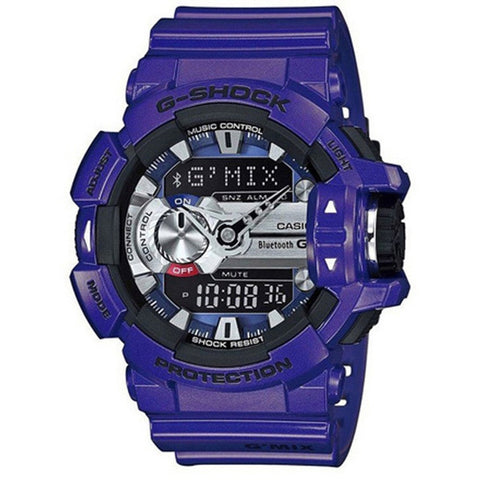 Casio G-Shock G'MIX Bluetooth Smart World Time Analog-Digital Resin Strap Men's Watch GBA-400-2A