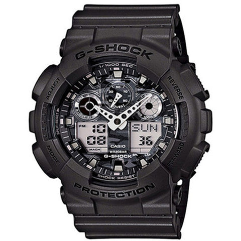Casio G-Shock Matt Black Resin Strap Watch GA100CF-8A