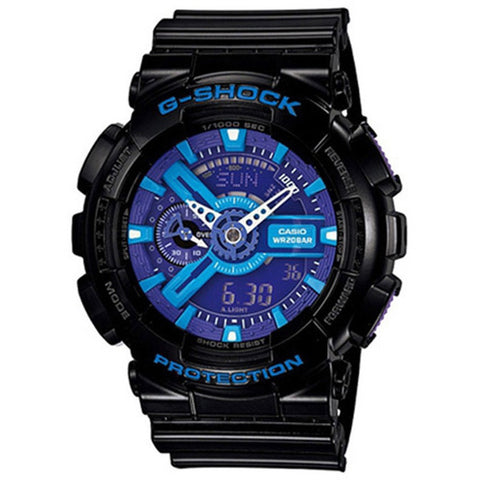 Casio G-Shock Men's Black Resin Strap Watch GA-110HC-1A