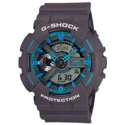 Casio G-Shock Men's Grey Resin Strap Watch GA-110TS-8A2