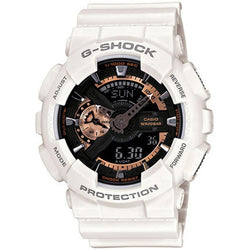 Casio G-Shock Men's White Resin Strap Watch GA-110RG-7A