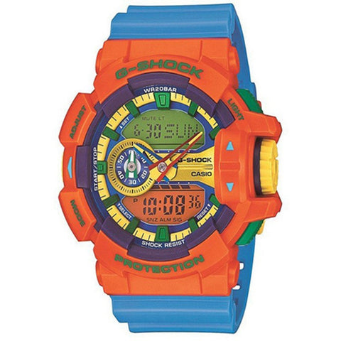 Casio G-Shock Men's Blue Resin Strap Watch GA-400-4A