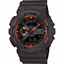 Casio G-Shock Mens Neon Colours Black-Orange Watch GA-110TS-1A4