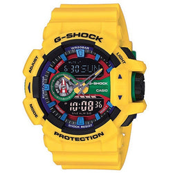 Casio G-Shock Men's Yellow Resin Strap Watch GA-400-9A