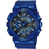 Casio G-Shock Neon Metallic Collection Blue Resin Band Watch GA110NM-2A