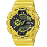 Casio G-Shock Neon Metallic Collection Gold Resin Band Watch GA110NM-9A