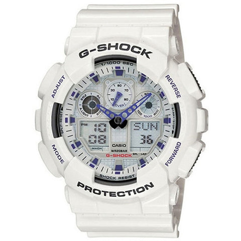 Casio G-Shock White Resin Strap Watch GA-100A-7