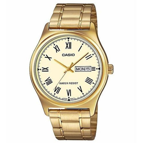 Casio Gold Stainless Steel Band MenS Watch Mtp-V006G-9B
