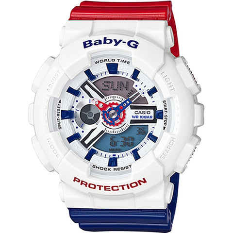 Casio Ladies Baby-G White Tricolor Series Watch BA-110TR-7A