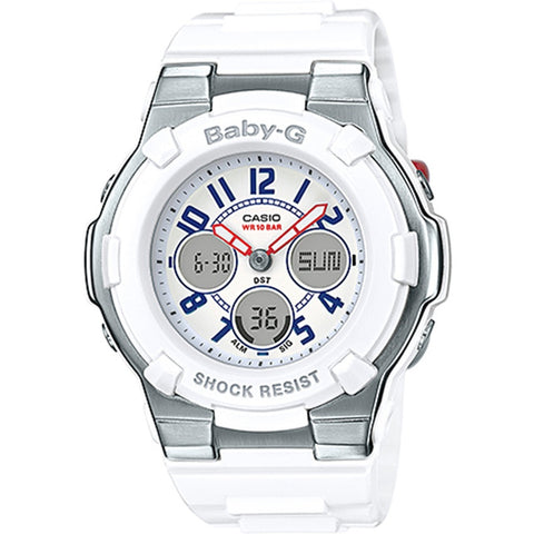 Casio Ladies Baby-G White Tricolor Series Watch BGA-110TR-7B
