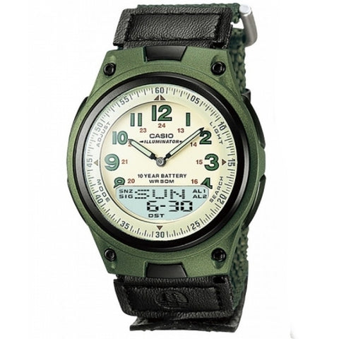 Casio Men̴å«ÌÎÌÏ_s Analog Digital Quartz Watch AW-80V-3B