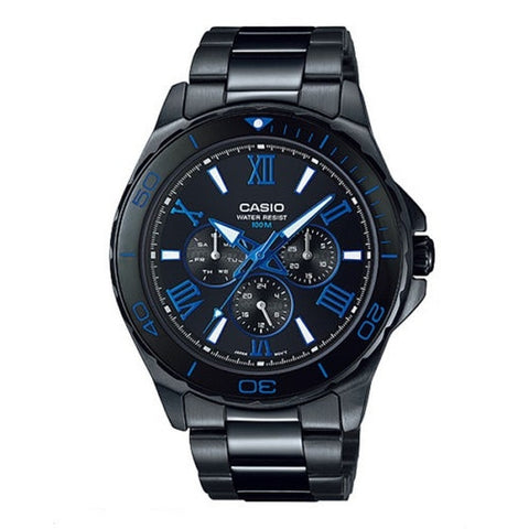 Casio Men's Analog Watch MTD-1075BK-1A2