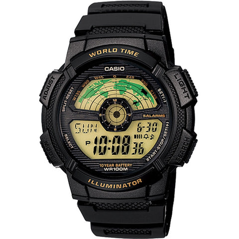 Casio Men's Black E-Data-Bank Watch NWT AE-1100W-1B