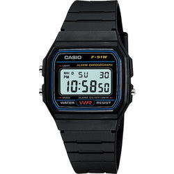 Casio Men's Black Resin Strap Watch F-91W-1D