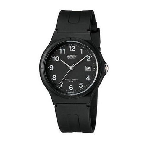 Casio Men's Black Resin Strap Watch MW-59-1B