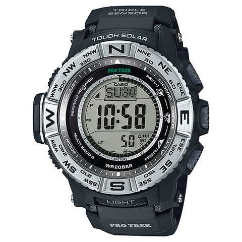 Casio Men's Black Resin Strap Watch PRW-3500-1D