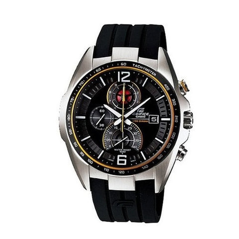 Casio Men's Black Rubber Strap Watches EFR-528-1A