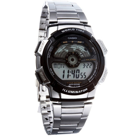 Casio Men's Digital Stainless Steel Watch AE-1100WD-1A