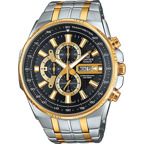 Casio Men's Dual-Tone Stainless Steel Strap Watch EFR-549SG-1A