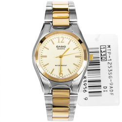 Casio Men's Dual-Tone Stainless Steel Strap Watch MTP-1253SG-9A