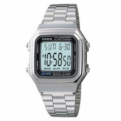 Casio Men's Silver Stainless Steel Strap Watch A178WA-1A