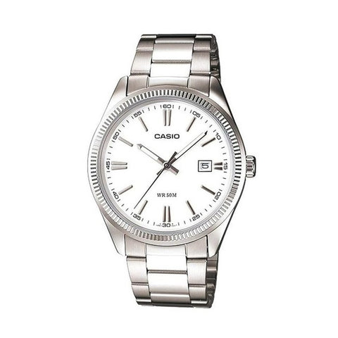 Casio Men's Silver Stainless Steel Watch MTP-1302D-7A1