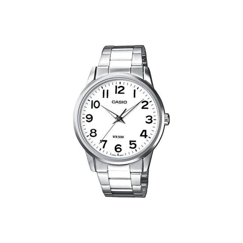 Casio Men's Silver Stainless Steel Watch MTP-1303D-7B