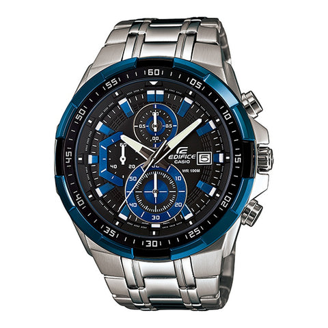 Casio Men's Silver Stainless Steel Watches EFR-539D-1A
