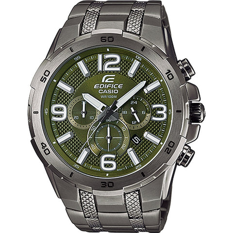 Casio Men's Stainless Steel Watches EFR-538BK-3A