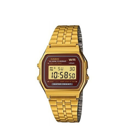 Casio Unisex Gold Stainless Steel Strap Watch A159WGEA-5D