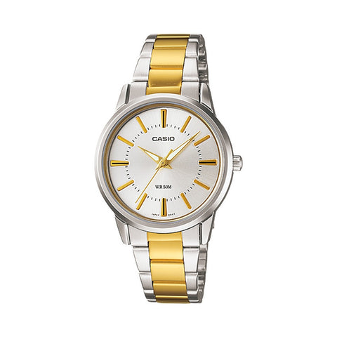 Casio Women's Two Tone Stainless Steel Strap Watch LTP1302SG-7A