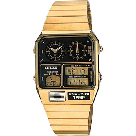Citizen ANA Digi Dual Time Temperature Retro Classic Watch JG2002-53P