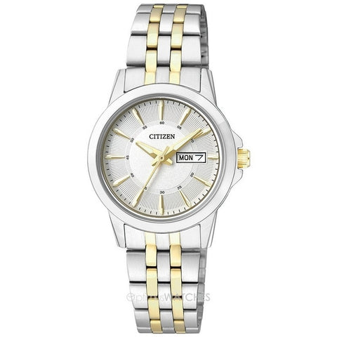 Citizen Analog White Dial Women's Stainless Steel Watch EQ0608-55A